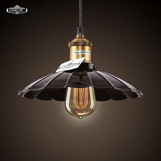 Lavalux Industrial Edison Pendant Lighting Vintage Style Art Deco Lotus Umbrella Shade Ceiling Lamp Fixture For Kitchen Bedroom Restaurant Amazon Co Uk Lighting