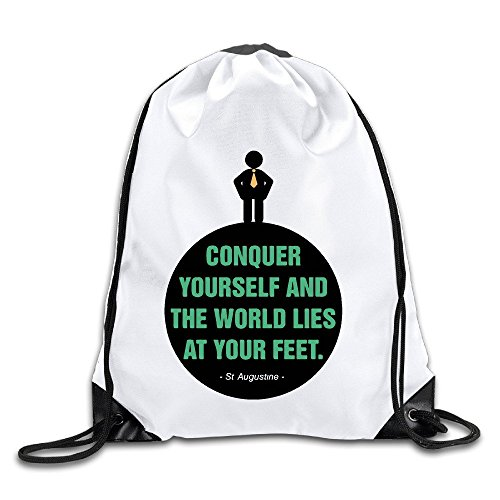 Price comparison product image HNN Conquer Yourself And The World Lies At Your Feet Drawstring Backpacks Sack Bags