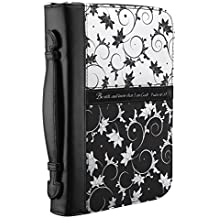 Micro-Fiber Black & White Print Bible / Book Cover - Psalm 46:10 (Medium)