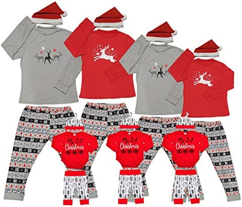 Matching Christmas Pjs For Family Xmas Thanksgiving Pajamas Sets Jammies  For Women Kids Boys Couples Holiday 0d069e5f7a