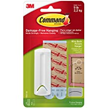 Command Wire Back Picture Hanger, White, 1-Hanger (17041-ES)