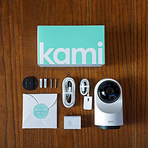 Kami Home Security Camera System 1080P HD Indoor Smart Cam, Motion-Activated with 2.4G/5G Dual-Band Wi-Fi, 1 Year Free Cloud Storage, Kami/YI Home APP - Works with Alexa and Google Assistant
