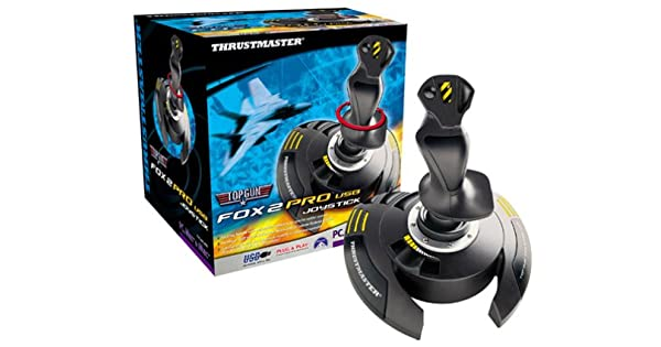 Thrustmaster Top Gun Fox 2 Pro Black 6 buttons W9x USB - Volante/mando (PC, Mac, Con cables, USB, Pentium 133 Mz, Drivers & Utilities, Thrustmapper 3, 8-way hat switch): Amazon.es: Videojuegos