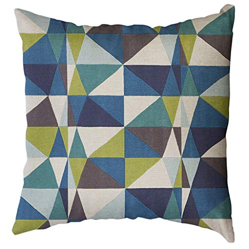 Decorative Pillow Cover Irregular Geometric Pattern Throw Pillow Case Cotton Linen Pillow Case for Sofa Bed Couch 18 x18 ()