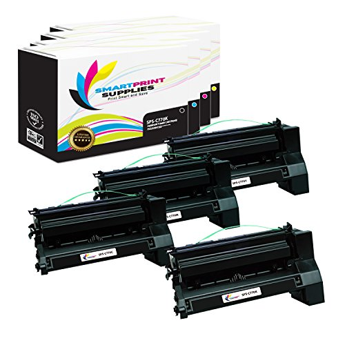 (Smart Print Supplies Compatible C770 C772 Extra High Yield Toner Cartridge Replacement for Lexmark C780 C782 X780 X782 Printers (Black, Cyan, Magenta, Yellow) - 4 Pack)