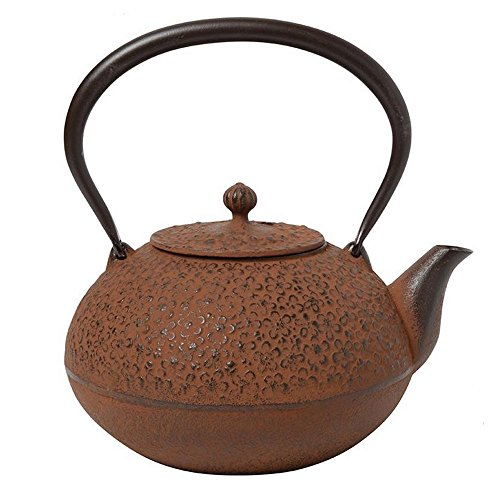 Comolife Japanese Traditional 'Nambu Tekki' Craft Tea Kettle, Color : Rust-colored , Design : Plum Flower , Capacity : 40.57 (oz) by Comolife