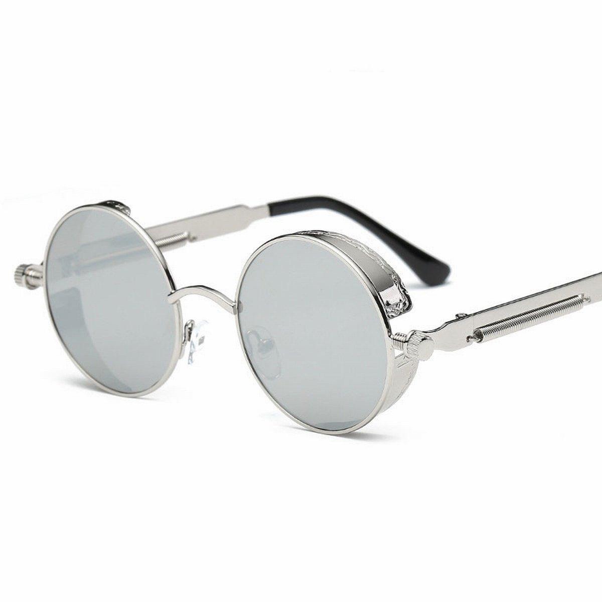 runder rahmen-metall-sonnenbrille Personifizierte Frühlingsspiegel-Beine reflektierende helle farben-damen Retro- sonnenbrille goldrahmen BzU6pokeF