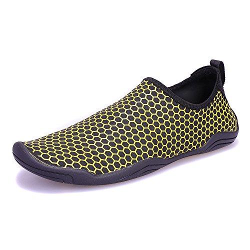 Schuhe Schwimmschuhe im Wasserschuhe Atmungsaktiv Familienaktivitäten E Herren Freien für Wassersport gelb Aquaschuhe Damen SITAILE Kinder w8X0P