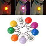 Wodwad Clip-On Dog Cat Pet Collar Light, Waterproof LED Dog Collar Safety Night Walking Lights Keychain (White)