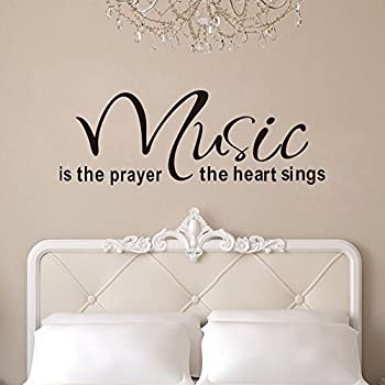 Witkey Music Is The Prayer The Heart Sings Vinyl Wall Decals Quotes Sayings  Words Art Decor Part 55