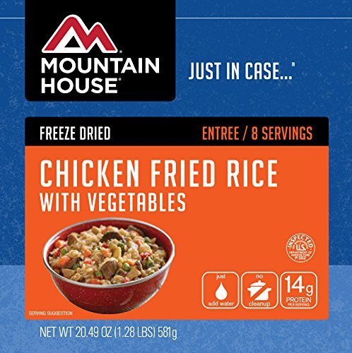 Mountain House Chicken Fried Rice with Vegetables (10 Can) (Freeze Dried Chopped Chicken)