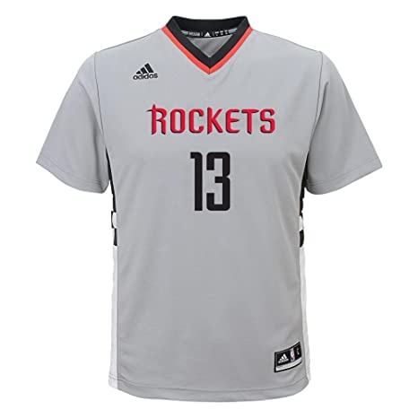 cafacf774 adidas Houston Rockets James Harden Youth Alternate Replica Jersey Gray  (Small)