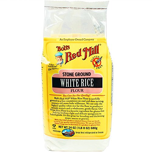 Bob's Red Mill Gluten Free White Rice Flour, 24 Oz (4 Pack)