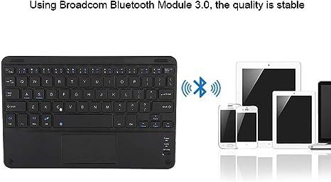 9in Bluetooth Clavier avec Touchpad, Ciseaux Pieds Design