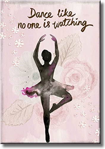 Dance Like No One is Watching, Ballet Dance Picture on Stretched Canvas, Wall Art D cor, Ready to Hang 11 x 14 Acrylic