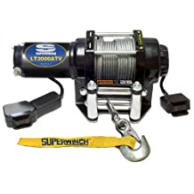 Superwinch 1130220 LT3000ATV 12 VDC winch 3,000-Pound/1360 kg with roller fairlead, mount plate, handlebar rocker switch, and handheld remote