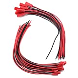 20 Pairs 22AWG Male & Female JST Connector Battery Plug Wire Cable for RC Plane Li-Po Battery 200mm by BestTong