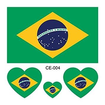 2018 World Cup - Adhesivos temporales para tatuaje FIFA, impermeables, en forma de corazón, 32 equipos, 10 unidades: Amazon.es: Belleza