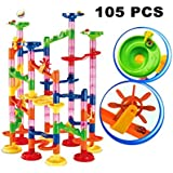 Marble Run Super Set 105pcs Railway Games STEM Learning Toy Gift for Kids 4 5 6 + Year Old Boys Girls