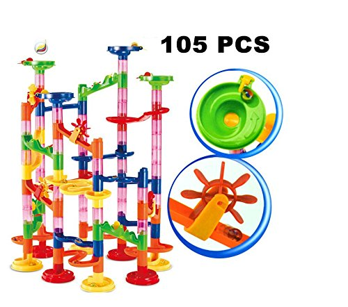 building toys for girls Marble Run Super Set 105pcs Railway Games STEM Learning Toy Gift for Kids 4 5 6 + Year Old Boys Girls