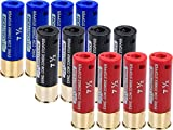 Evike Zombie Stopper 30 Round BB Holding Shells for Multi & Single-Shot Airsoft Shotguns (Color: Red, Blue, Black / 12 Pack)
