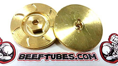 Beef Tubes BEEF PATTIES Scale Brake Rotors/Weights (HEX) - Brass (Brass Rotor)