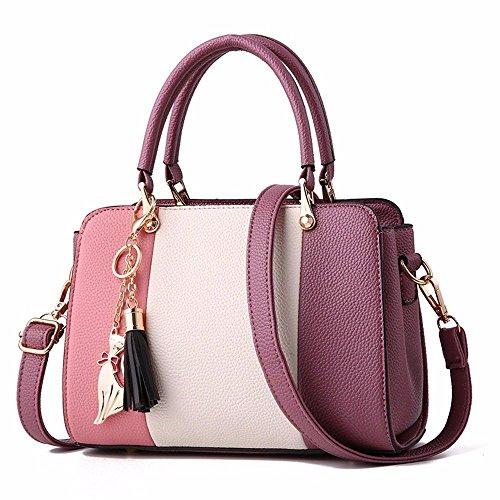 Sac pour Main Bandoulière Unique Sac Mode Cartable Lady MSZYZ violet pour Sac intense Lady à à qTFwn7Pz