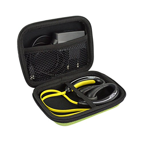 Sports Wireless Bluetooth Headset Carrying Case, Fit Jabra Sport Plus, Pulse, Step, Rox, Sony MDRAS200, MDR-J10, MDR-AS200 / Sweat Proof Wireless Workout Earbuds Carrying Case (Yellow)