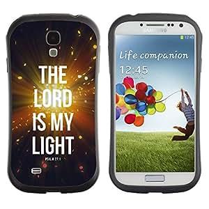 Suave TPU Caso Carcasa de Caucho Funda para Samsung Galaxy S4 I9500 / BIBLE The Lord Is My Light - Psalm 27:1 / STRONG