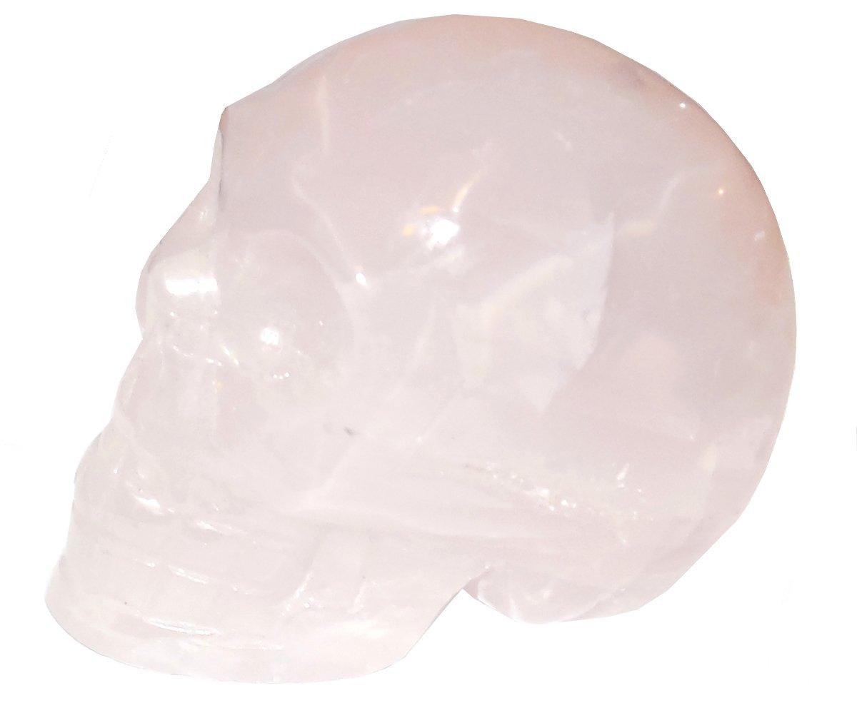 Rose Quartz Skull 14 Sacred Akashic Ancient Past Life Love Heart Healing Energy 3''