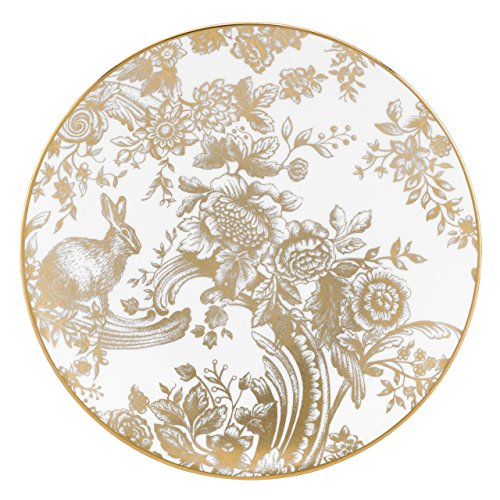 Lenox Marchesa Gilded Forest Accent Plate, White