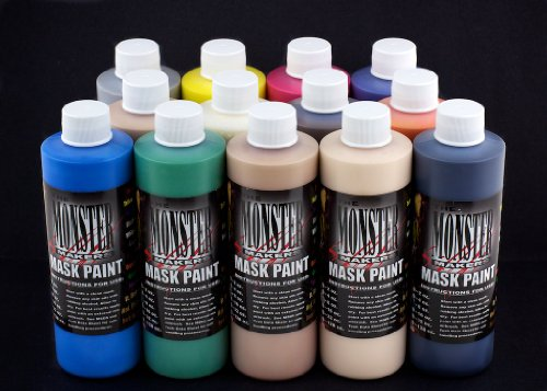 The Monster Makers Latex Mask Paint 13 Color Kit (4oz -
