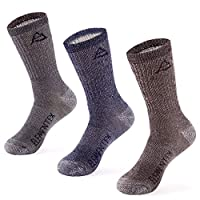 MERIWOOL 3 Pack Merino Wool Blend Socks - Choose Your Size & Style