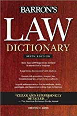 Barron's Law Dictionary (text only) 6th (Sixth) edition by S. H. Gifis Paperback