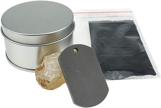SparkLiay - Kit de iniciación de Fuego Forjado a Mano con Piedra de pedernal para Acampada al Aire Libre, Herramienta de Supervivencia de Emergencia con Caja: Amazon.es: Deportes y aire libre