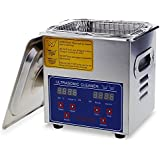 Flexzion Commercial Ultrasonic Cleaner Large Capacity Stainless Steel with Heater and Digital Timer for Electronic Tool Jewelry Watch Glasses Rings Dental Lab Hospital Instruments