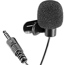 Neewer® 2X 3.5mm Hands Free Computer Clip on Mini Lapel Microphone (2X Lapel Microphone)