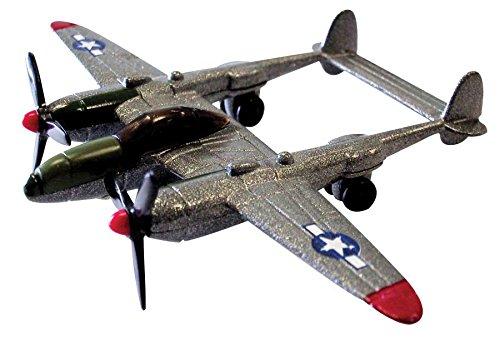 """InAir - 3.5"""" P-38 Lightning Silver (P-38 Lightning Fighter)"""