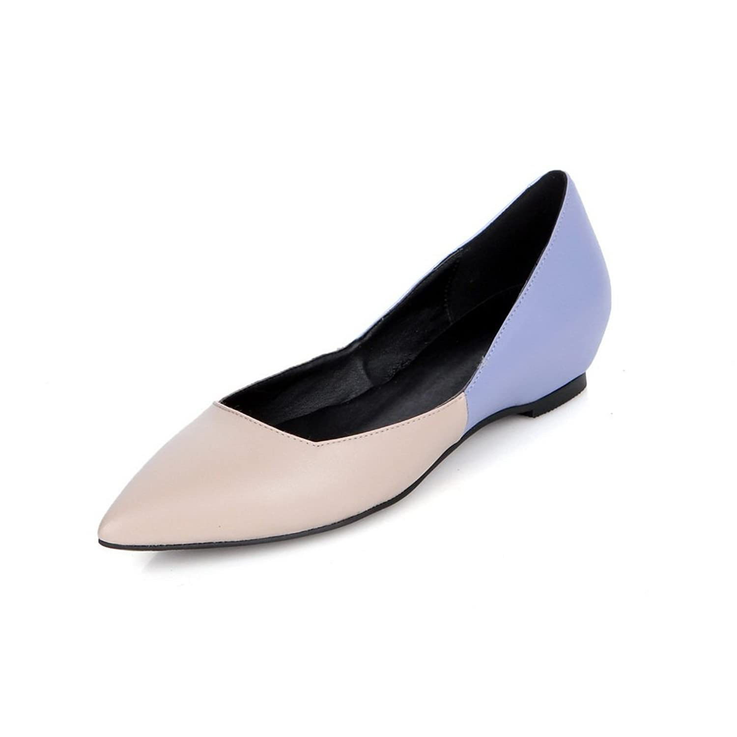 9139cf1a23c AdeeSu Womens No-Closure Assorted Color Pointed-Toe Pleather Loafers Shoes  SDC03846