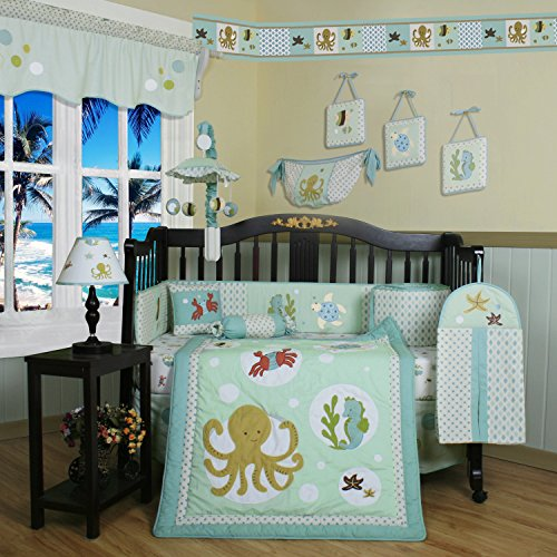 13 Piece Sea Animals Baby Bedding Crib Sets Neutral Unisex