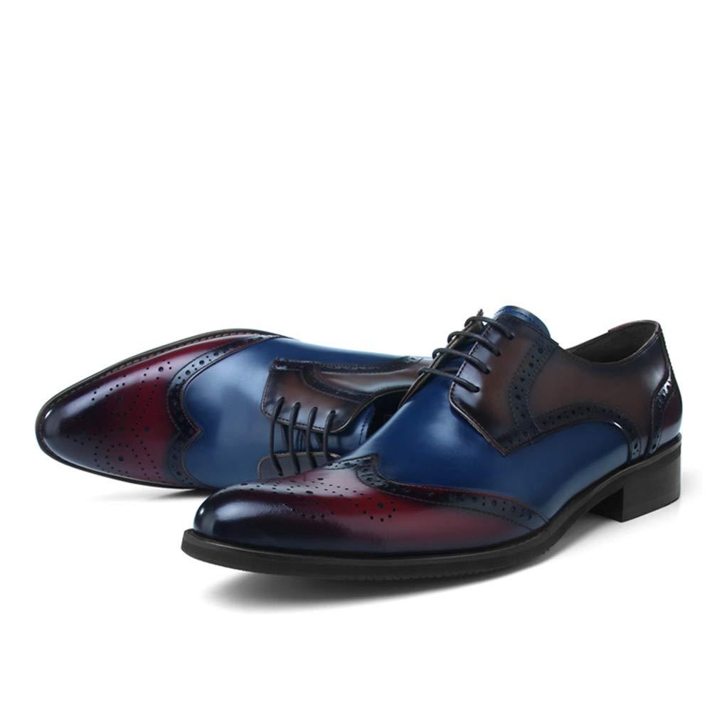 Herren Männer Business Größe Schnürhalbschuhe Oxfords Spitzschuh Hochzeit Geschäft Blau Größe Business 38-45EU Blau 1e3e54