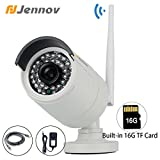Jennov 720P Wifi Smart Wireless Security Cameras Outdoor Waterproof Cctv Bullet IP Network Camera With Built-in 16G TF Card Day Night Vision Mobilephone Remote View