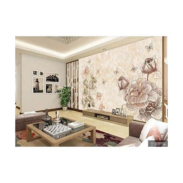 LIWALLPAPER-Carta-Da-Parati-3D-Fotomurali-Marmo-Farfalla-Fiore-Camera-da-Letto-Decorazione-da-Muro-XXL-Poster-Design-Carta-per-pareti-200cmx140cm