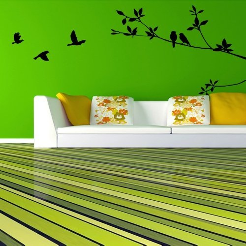 lgking supply pegatina decorativa para pared pvc diseo de pjaros y ramas color negro amazones hogar