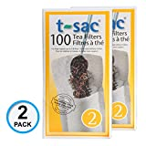 Modern Tea Filter Bags, Disposable Tea Infuser, Size 2, Set of 200 Filters - 2 Boxes - Heat Sealable, Natural, Easy to Use Anywhere, No Cleanup – Perfect for Teas, Coffee & Herbs - from Magic Teafit