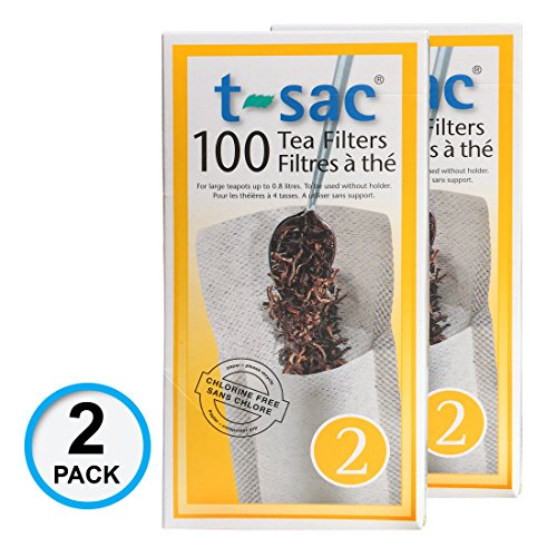 Modern Tea Filter Bags, Disposable Tea Infuser, Size 2, Set of 200 Filters - 2 Boxes - Heat Sealable, Natural, Easy to Use Anywhere, No Cleanup – Perfect for Teas, Coffee & Herbs - from Magic Teafit by Magic Teafit
