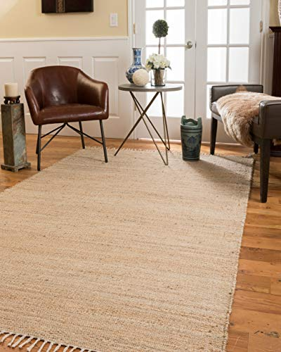 Natural Area Rugs 100 Natural Fiber Handmade Venice Jute Rectangular Rug 6 x 9 Natural