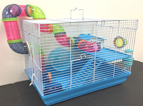 2 Levels Habitat Hamster Rodent Gerbil Mouse Mice Rat Wire Cage