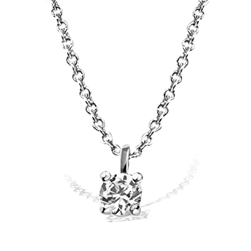 ea2aa704e2 Goldmaid Collana con Pendente da Donna, Oro Bianco, Diamante Bianco ...