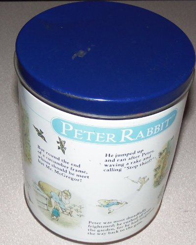 """Peter Rabbit Jigsaw Puzzle - 12"""" x 34"""", 700 Pieces with decorative round tin."""